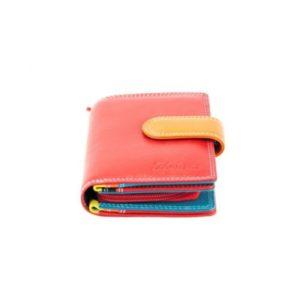 Δερμάτινο Πορτοφόλι Γυναικείο, Κούρος, Model 6081 Κόκκινο Multicolor
