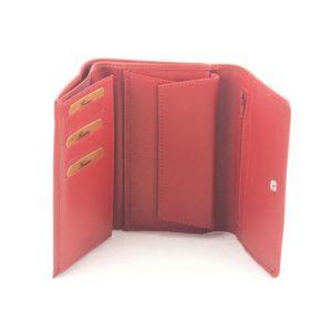 Δερμάτινο Πορτοφόλι Γυναικείο, Κούρος, Model 7036 Κόκκινο