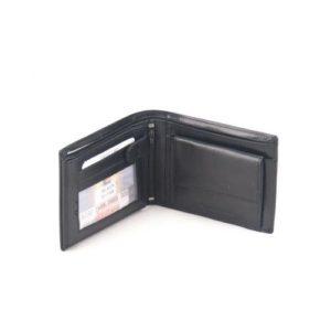 Δερμάτινο Πορτοφόλι Κούρος κωδ. 01-166 Black Ανιλίνης