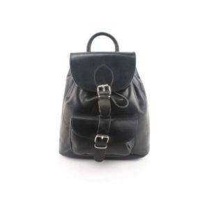 Δερμάτινο Σακίδιο Πλάτης Model 142 Μαύρο, Δέρμα Ά Ποιότητα