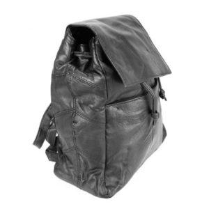 Δερμάτινο Σακίδιο Πλάτης Model BP045 Μαύρο