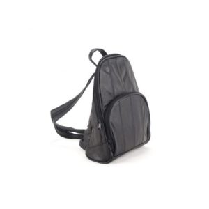 Δερμάτινο Σακίδιο Πλάτης Model BP103 Μαύρο