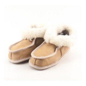 Dalis Leather-Παιδικά Παντοφλάκια Καστοριάς Κλειστά-DPPK030BEI-ΜΠΕΖ