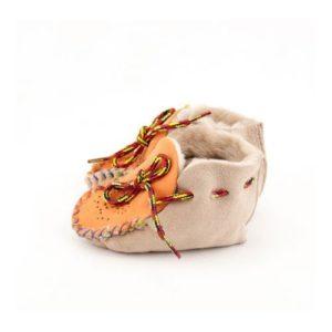Dalis Leather-Παιδικά Δερμάτινα Παντοφλάκια Καστοριάς Suede (Αγκαλίτσας), Άμμος
