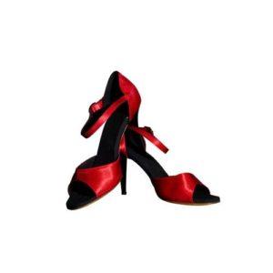 Dance Experts-Παπούτσια Χορού-AR-102-ΚΟΚΚΙΝΟ
