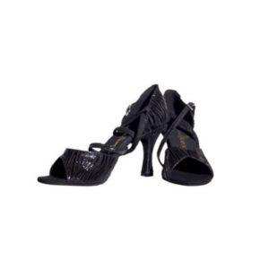 Dance Experts-Παπούτσια Χορού-P-507-ΜΑΥΡΗ ΖΕΒΡΑ