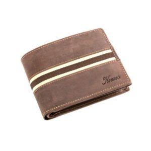 Πορτοφόλι Δερμάτινο Κούρος Ασφαλείας για Κάρτες Model 1525-01 RFID Καφέ