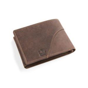 Πορτοφόλι Δερμάτινο Κούρος Ασφαλείας για Κάρτες Model 1525 RFID Καφέ