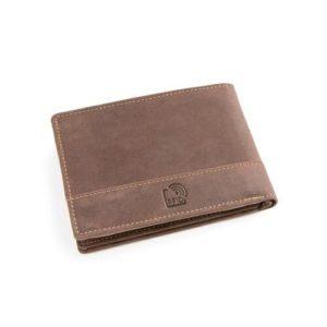 Πορτοφόλι Δερμάτινο Κούρος Ασφαλείας για Κάρτες Model 1546-02 RFID Καφέ