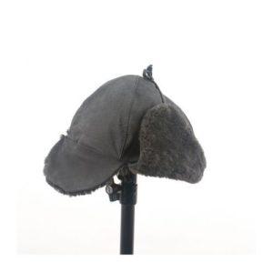 Ρώσικο Καπέλο Δερμάτινο Χρώμα Γκρι