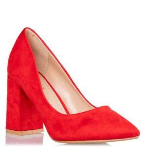 BLOCK HEEL PUMPS Κωδικός: S31-09587-30 Χρώμα Κόκκινο