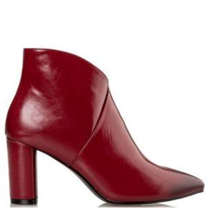 Miss NV-Block Heel Booties-V57-12655-30-ΜΠΟΡΝΤΟ