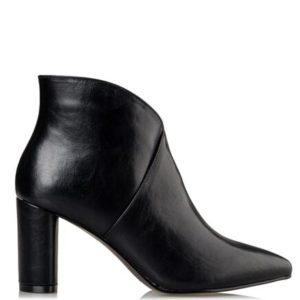 Miss NV-Block Heel Booties-V57-12655-34ΜΑΥΡΟ
