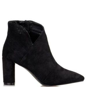 Miss NV-Block Heel Booties-V57-12656-34-ΜΑΥΡΟ