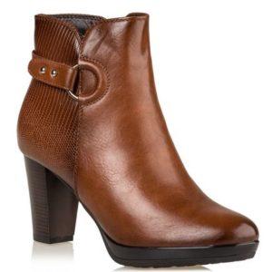 Miss NV-Block Heel Booties-V63-12230-26-ΚΑΜΕΛ