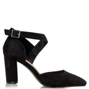 Miss NV-Block Heel Sandals- Model V57-12673-34-ΜΑΥΡΟ