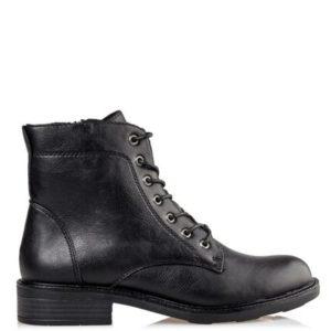 Miss NV-Combat Booties-V63-12200-34-ΜΑΥΡΟ