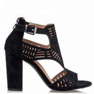 Miss NV-Cut out sandals-V37-11297-34-ΜΑΥΡΟ