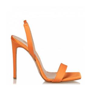 ENVIE shoes-SATIN STILETTO SANDALS-E02-13175-46-Πορτοκαλί