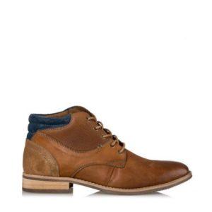 Ego Shoes-Δερμάτινα μποτάκια-G12-08822-28-ΚΑΜΕΛ