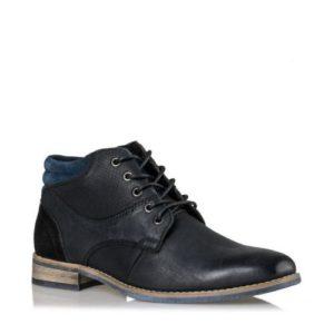 Ego Shoes-Δερμάτινα μποτάκια-G12-08822-34-ΜΑΥΡΟ