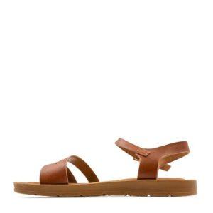Flat Sandals Model S64-11363-28 Camel