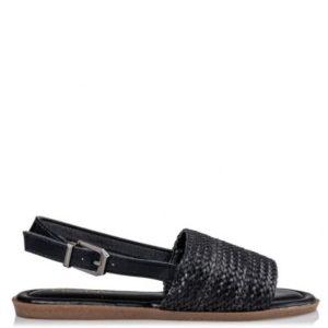 Miss NV-Flat Sandals-V42-11225-34-ΜΑΥΡΟ