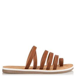 Miss NV-Flat Sandals-V54-11529-28-ΚΑΜΕΛ