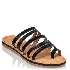 Miss NV-Flat Sandals-V54-11529-34-ΜΑΥΡΟ