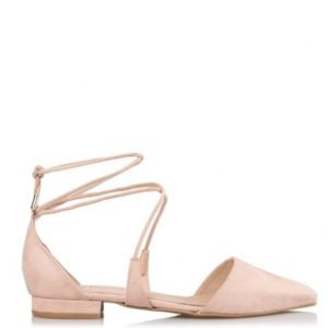 ENVIE-LACE UP POINTY PUMPS-E02-09005-90-NUDE