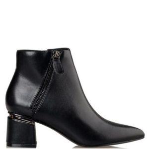Miss NV-Mid Heel Booties-V33-12701-34-ΜΑΥΡΟ
