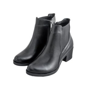 Safe Step-Γυναικεία Δερμάτινα Ανατομικά Μποτάκια-22201-ΜΑΥΡΟ