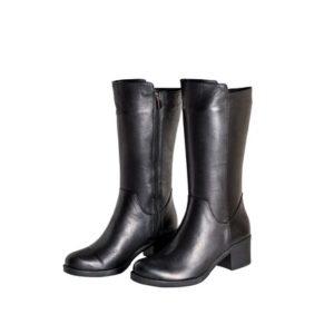 Safe Step-Γυναικεία Δερμάτινη Ανατομική Μπότα-6039-ΜΑΥΡΟ