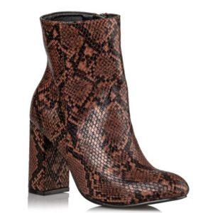 Miss NV-Snake Print Booties-V15-12941-9-ΚΑΦΕ