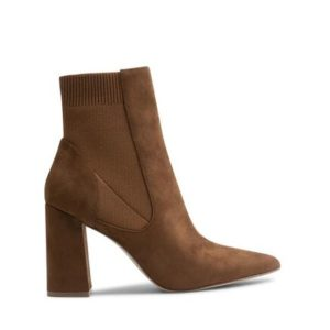 STEVE MADDEN-Reesa Ankle Boots Microsuede-SM11001181-04001-003-ΚΑΦΕ
