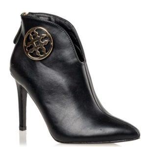 Miss NV-Stiletto Ankle Booties-V42-12015-34-ΜΑΥΡΟ