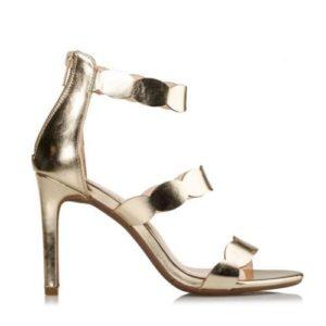 Miss NV - Triple-Strap Sandals-V64-09902-59-ΧΡΥΣΟ