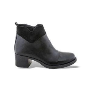 Zak Shoes-Δερμάτινο Μποτάκι-GK3351-ΜΑΥΡΟ