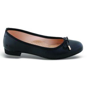 Zak Shoes-Μπαλαρίνα-KS20-ΜΑΥΡΟ