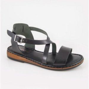 Klio- Thileon Sandals - Γυναικείο Δερμάτινο Πέδιλο Safe Step-Thileon-1204-ΜΑΥΡΟ