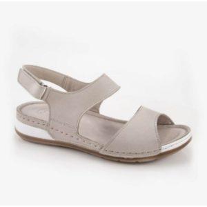 Δερμάτινο Γυναικείο Πέδιλο Safe Step-4607-Silver Grey