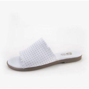 Δερμάτινα Γυναικεία Σανδάλια Safe Step-90422-Λευκό