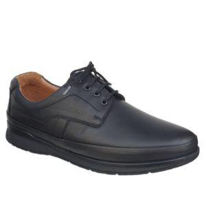 Ανδρικά Δετά Δερμάτινα, Safe Step Shoes, Χρώμα Μαύρο Κωδ. 705