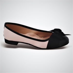 Zak Shoes-Γυναικείες Μπαλαρίνες-KS22NB-NUDE-ΜΑΥΡΟ