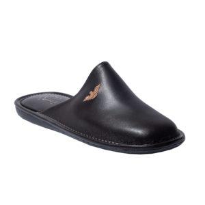 Zak Shoes-Ανδρικές Δερμάτινες Παντόφλες-S01545-ΚΑΦΕ