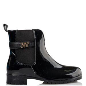 Miss NV-RAIN BOOTS –V22-14023-34–ΜΑΥΡΟ
